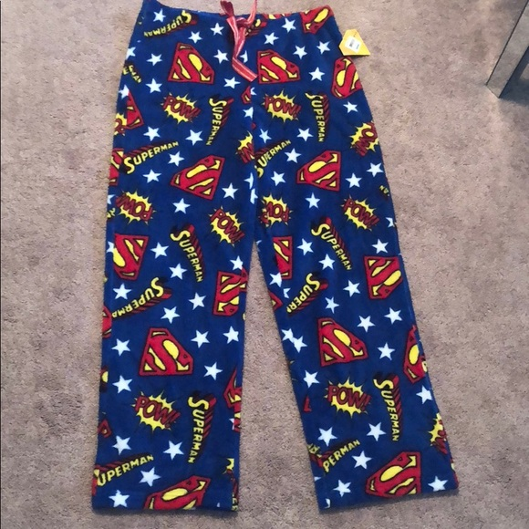 5323d431e4 Superman women s medium pajama pants m fleece new